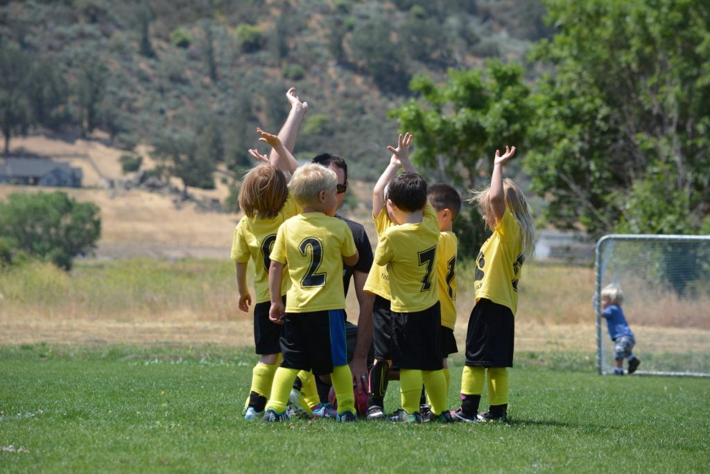 kids sports camp youth soccer team